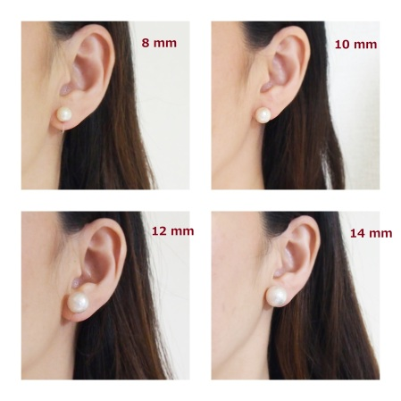 8 mm 10 mm 12 mm 14 mm cotton pearl invisible clip on earrings_size1