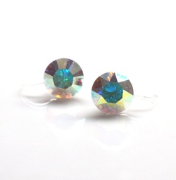 "<img src=""aurora-borealis-swarovski-crystal-stud-invisible-clip-on-earrings-non-pierced-earrings-6.jpg"" alt=""pierced look and comfortable 2 way 8mm & 6mm Aurora Borealis Swarovski Crystal Invisible Clip on Earrings, Clip-On Earrings, Bridal Clip Earrings, Non Pierced Earrings""/>"