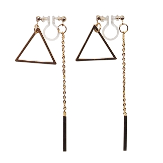 Totally pierced look double sided invisible clip on earrings
