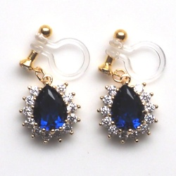 "<img src=""comfortable-bridal-dangle-navy-blue-cz-crystal-invisible-clip-on-earrings-miyabigrace2.jpg"" alt=""pierced look and comfortable Comfortable and pierced look dangle gold bridal wedding navy blue sapphire cz cubic zirconia crystal teardrop invisible clip on earrings MiyabiGrace 夾耳環 ノンホールピアス""/>"