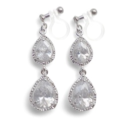 "<img src=""comfortable-bridal-wedding-silver-chandelier-cz-cubic-zirconia-crystal-invisible-clip-on-earrings-miyabigrace2.jpg"" alt=""pierced look and comfortable Comfortable and pierced look bridal wedding cubic zirconia cz crystal dangle silver teardrop chandelier invisible clip on earrings by MiyabiGrace 夾耳環 ノンホールピアス""/>"