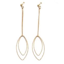 "<img src=""comfortable-dangle-long-gold-invisible-clip-on-hoop-earrings-miyabigrace-3.jpg"" alt=""pierced look and comfortable Comfortable and pierced look dangle gold invisible clip on double oval hoop minimal earrings 夾耳環 ノンホールピアス MiyabiGrace""/>"