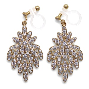 "<img src=""comfortable-pierced-look-bridal-wedding-crystal-cz-invisible-clip-on-earrings-miyabigrace2.jpg"" alt=""pierced look and comfortable Comfortable and pierced look bridal wedding dangle gold peacock flower chandelier cubic zirconia cz crystal invisible clip on earrings bridal jewelry by MiyabiGrace 夾耳環 ノンホールピアス 夾式耳環""/>"