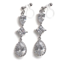 "<img src=""comfortable-pierced-look-dangle-chandelier-silver-cz-cubic-zirconia-crystal-invisible-clip-on-earrings-miyabigrace2.jpg"" alt=""pierced look and comfortable Comfortable and pierced look bridal wedding cubic zirconia cz crystal dangle silver teardrop chandelier invisible clip on earrings by MiyabiGrace 夾耳環 ノンホールピアス""/>"