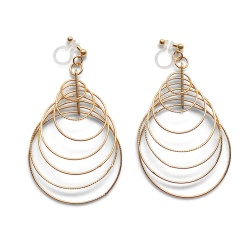 "<img src=""comfortable-pierced-look-dangle-modern-trendy-gold-gradated-loop-hoop-invisible-clip-on-earrings-miyabigrace-e5a4bee880b3e792b0-e5a4bee5bc8fe880b3e792b0-e382a4e383a4.jpg"" alt=""pierced look and comfortable Comfortable and pierced look dangle gold double circle hoop tribal invisible clip on earrings by MiyabiGrace 耳環夾 ノンホールピアス 夾式耳環""/>"