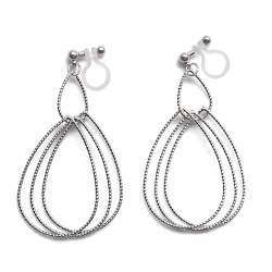 "<img src=""comfortable-pierced-look-dangle-shiny-rotatable-textured-silver-double-teardrop-hoop-invisible-clip-on-earrings-miyabigrace-e5a4bee880b3e792b0-e5a4bee5bc8fe880b3e792b0-e382a4.jpg"" alt=""pierced look and comfortable Comfortable and pierced look dangle silver double teardrop hoop invisible clip on earrings by MiyabiGrace 耳環夾 ノンホールピアス 夾式耳環""/>"