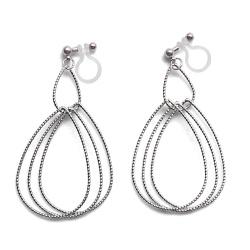 "<img src=""comfortable-pierced-look-dangle-shiny-rotatable-textured-silver-double-teardrop-hoop-invisible-clip-on-earrings-miyabigrace-e5a4bee880b3e792b0-e5a4bee5bc8fe880b3e792b0-e382a4.jpg"" alt=""pierced look and comfortable Comfortable and pierced look dangle silver double teardrop hoop invisible clip on earrings by MiyabiGrace 耳環夾 ノンホールピアス 夾式耳環""/>"
