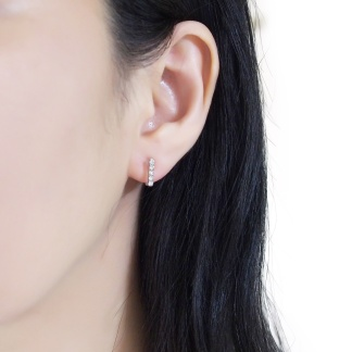 Minimalist style bar invisible clip on earrings