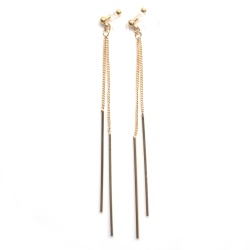 """<img src=""""comfortable-pierced-look-minimal-dangle-gold-chain-bar-invisible-clip-on-earrings6.jpg"""" alt=""""pierced look and comfortable comfortable and pierced look dangle long gold bar invisible clip on earrings 耳環夾ノンホールピアス""""/>"""