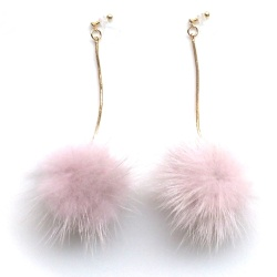 "<img src=""comfortable-pierced-look-pink-mink-fur-pom-pom-invisible-clip-on-earrings-3.jpg"" alt=""pierced look and comfortable Comfortable and pierced look dangle gold pink pom pom mink fur invisible clip on double earrings 夾耳環 ノンホールピアス MiyabiGrace""/>"