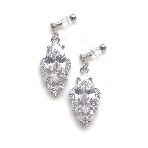 "<img src=""cz-crystal-cubic-zirconia-diamond-wedding-invisible-clip-on-earrings10.jpg"" alt=""pierced look and comfortable wedding and bridal Cubic zirconia diamond invisible clip on earrings""/>"