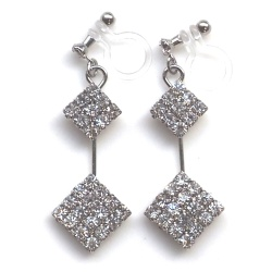 "<img src=""dangle-2-square-rhinestone-crystal-invisible-clip-on-earrings-wedding-clip-earrings4.jpg"" alt=""pierced look and comfortable wedding bridal dangle two square rhinestone crystal invisible clip on earrigs non pierced earrigs""/>"