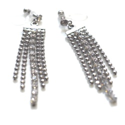 "<img src=""dangle-ball-chain-crystal-long-invisible-clip-on-earrings-bridal-clip-on5.jpg"" alt=""pierced look and comfortable Dangle Rhinestone Chain Balls Invisible Clip On Earrings, Long Chain Crystal Silver Clip ons, Bridal Clip Earrings, Non Pierced Earrings""/>"