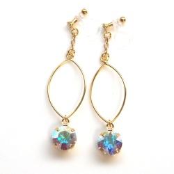 "<img src=""dangle-gold-hoop-and-aurora-borealis-invisible-clip-on-earrings-non-pierced34.jpg"" alt=""pierced look and comfortableDangle Gold Hoop and Aurora Borealis Swarovski Crystal Invisible Clip On Earrings, Non Pierced Earrings, Large Hoop Silver Clip Earrings""/>"