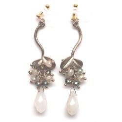 "<img src=""dangle-gold-leaf-branch-green-white-crystal-invisible-clip-on-earrings41.jpg"" alt=""pierced look and comfortable Dangle gold leaf and branched drop crystal invisible clip on earrings""/>"