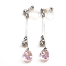 "<img src=""dangle-swarovski-crystal-rosaline-pink-teardrop-invisible-clip-on-earrings8.jpg"" alt=""pierced look and comfortable Wedding bridal Dangle Rosaline Pink Swarovski Crystal Invisible Clip On Earrings non pierced earrings""/>"