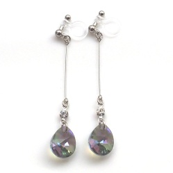 "<img src=""dangle-teardrop-green-black-paradise-shine-swarovski-crystal-invisible-clip-on-earrings10.jpg"" alt=""pierced look and comfortable Wedding bridal Dangle Green Black Crystal Paradise Shine Swarovski Invisible Clip On Earrings non pierced earrings""/>"