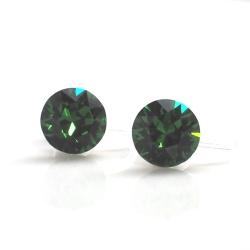 "<img src=""dark-moss-green-emerald-swarovski-crystal-invisible-clip-on-earrings3.jpg"" alt=""pierced look and comfortable dark moss green emerald swarovski crystal stud invisible clip on earrings""/>"