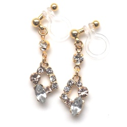 "<img src=""pink-rhinestone-crystal-dangle-invisible-clip-on-earrings-non-pierced10.jpg"" alt=""pierced look and comfortable Wedding bridal Pink crystal and rhinestone dangle invisible clip on earrings non pierced earrings""/>"