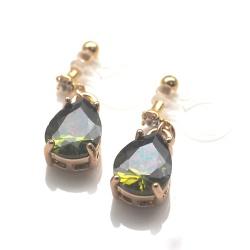 "<img src=""teardrop-emerald-greeen-dangle-cubic-zirconia-invisible-clip-on-earrings5.jpg"" alt=""pierced look and comfortable Teardrop Peridot Green Cubic Zirconia Invisible Clip On Earrings, Dangle Green Crystal Clip Earrings, Non Pierced Earrings,Comfortable Clips""/>"