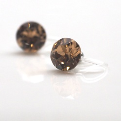 "<img src=""topaz-swarovski-crystal-stud-invisible-clip-on-earrings1.jpg"" alt=""pierced look and comfortable 2 ways 8mm & 6mm Light Brown Topaz Swarovski Crystal Invisible Clip on Earrings,""/>"