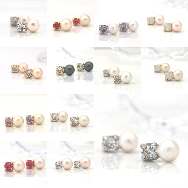 Totally Invisible Japanese cotton pearl invisible clip on earrings 15