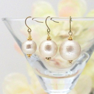 Japanese cotton pearl earrings_MiyabiGrace2