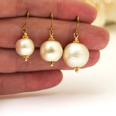 Japanese cotton pearl earrings_MiyabiGrace3