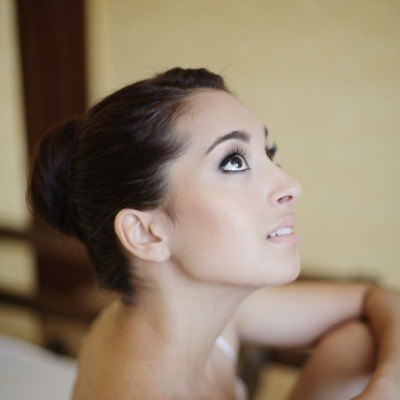 Japanese cotton pearl stud earrings