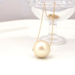Large Japanese cotton pearl pendant