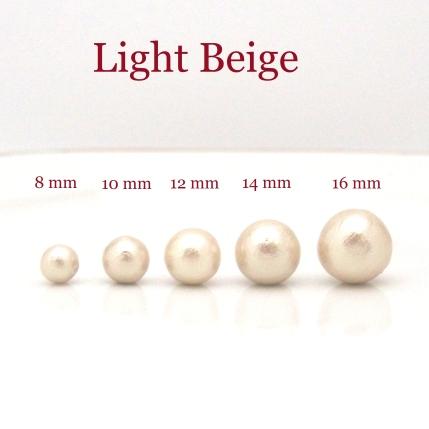 Japanese cotton pearl stud earrings 8 mm 10 mm 12 mm 14 mm 16 mm