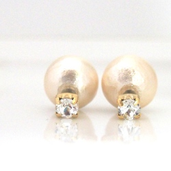 3 Way Pink Japanese Cotton Pearl Double Sided Earrings