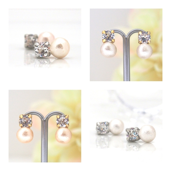 Totally invisible: Swarovski crystal and Japanese cotton pearl invisible clip on earrings