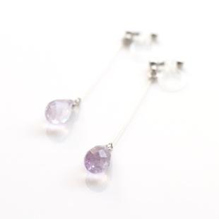 "<img src=""dangle-light-purple-teardrop-amethyst-gemstone-invisible-clip-on-earrings-non-pierced-earrings-3.jpg"" alt=""pierced look and comfortable Pierced look and comfortable dangle teardrop natural gemstone purple amethyst invisible clip on earrings 耳環夾ノンホールピアス イヤリング""/>"
