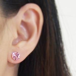 "<img src=""6mm-8-mm-light-rose-swarovski-crystal-stud-invisible-clip-on-earrings-non-pierced-earrings-8.jpg"" alt=""pierced look and comfortable 2 ways 8 mm & 6 mm Light Rose Swarovski Crystal Invisible Stud Clip on Earrings""/>"