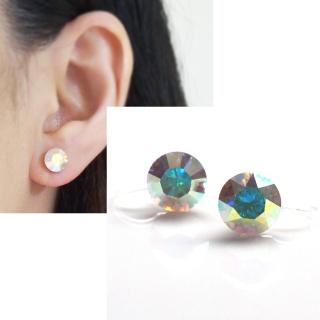 "<img src=""aurora-borealis-swarovski-crystal-stud-invisible-clip-on-earrings-non-pierced-earrings-2.jpg"" alt=""pierced look and comfortable Aurora Borealis Swarovski crystal stud invisible clip on earrings non pierced earrings""/>"