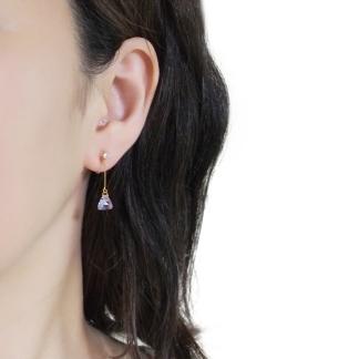 Elegant shiny swarovski invisible clip on earrings