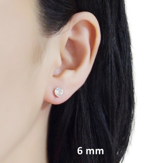 Swarovski invisible clip on stud earrings