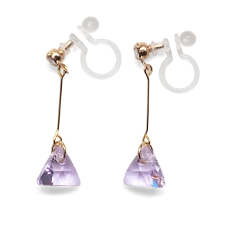 Elegant shiny swarovski invisible clip on earrings