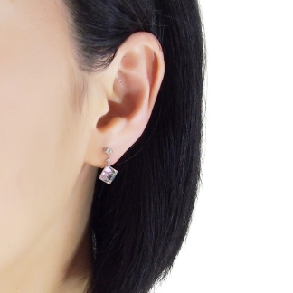 Sparkly Swarovski invisible clip on earrings