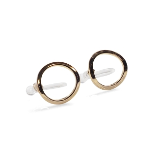 Circle invisible clip on stud earrings