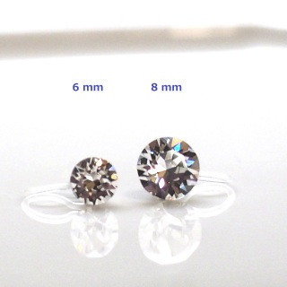 """<img src=""""swarovski-crystal-stud-invisible-clip-on-earrings-non-pierced-earrings-3.jpg"""" alt=""""pierced look and comfortable Wedding and bridal Swarovski crystal stud invisible clip on earrings""""/>"""