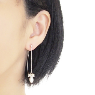 Pierced look double sided invisible clip on earrings