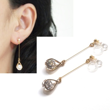 "<img src=""dangle-gold-cubic-zirconia-crystal-invisible-clip-on-earrings-non-pierced-earrings7.jpg"" alt=""pierced look and comfortable dangle gold cubic zirconia crystal invisible clip on earrings non pierced earrings""/>"