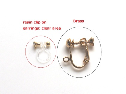 Invisible clip on earrings