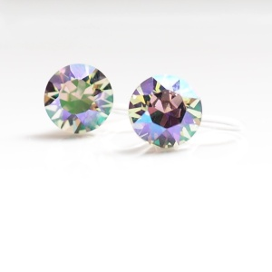 Paradise shine Swarovski crystal invisible clip on earrings