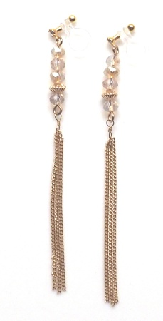 "<img src=""comfortable-pierced-look-beads-dangle-gold-chian-tassel-invisible-clip-on-earrings-2.jpg"" alt=""pierced look and comfortable Pierced look and comfortable dangle beads and gold tassel invisible clip on earrings 耳環夾 ノンホールピアス イヤリング""/>"
