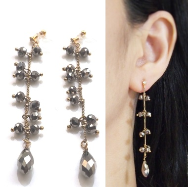 "<img src=""comfortable-pierced-look-chandelier-dangle-brown-beads-invisible-clip-on-earrings-miyabigrace.jpg"" alt=""pierced look and comfortable Pierced look and comfortable Dangle chandelier brown beads invisible clip on earringss 夾耳環 ノンホールピアス""/>"