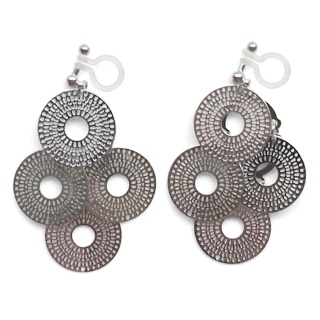 "<img src=""comfortable-pierced-look-dangle-silver-four-circle-coin-filigree-invisible-clip-on-earrings-miyabigrace-e5a4bee880b3e792b0-e5a4bee5bc8fe880b3e792b0-e382a4e383a4e383aa.jpg"" alt=""pierced look and comfortable Comfortable and pierced look dangle silver circle filigree invisible clip on earrings bridal jewelry by MiyabiGrace 耳環夾 ノンホールピアス 夾式耳環""/>"