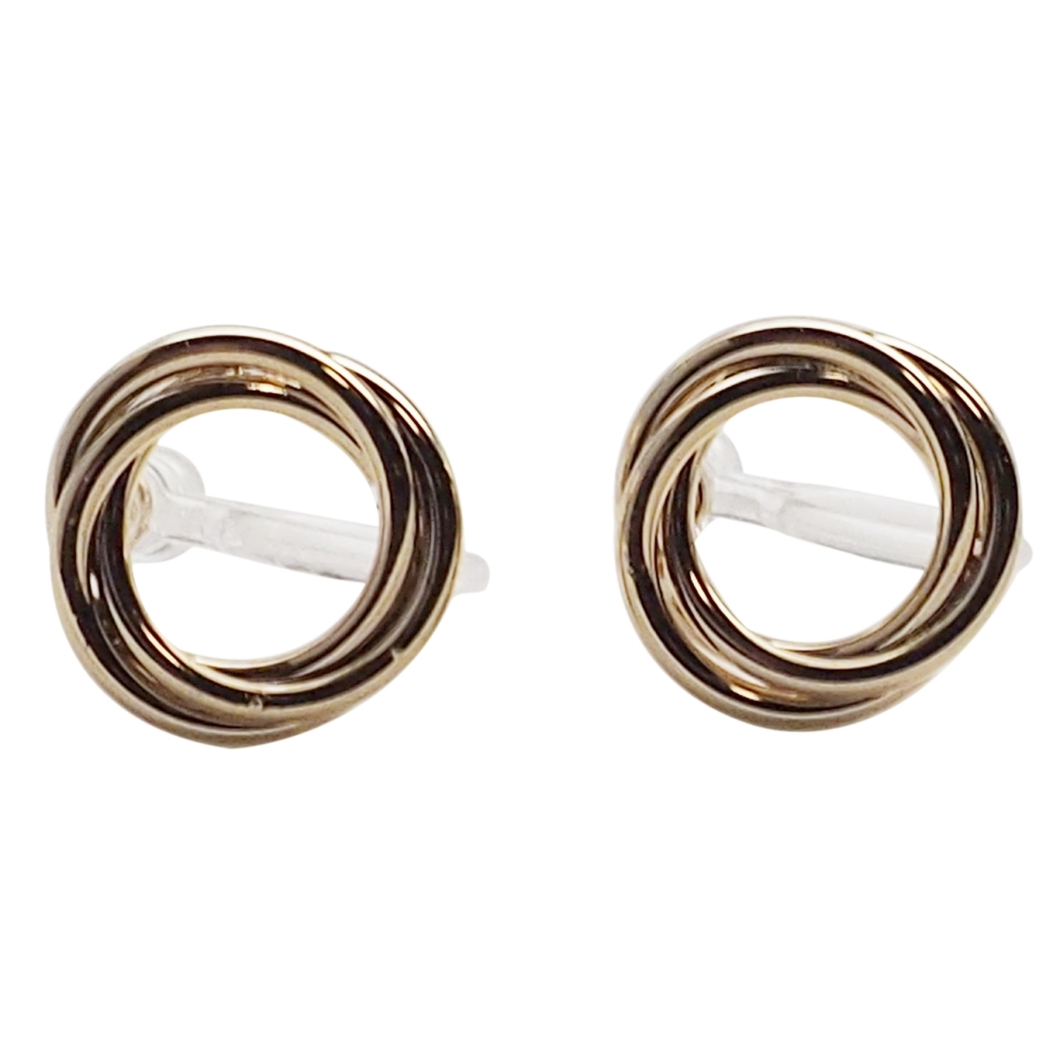 Comfortable pierced look Gold Tube Hoops Circle Round Invisible clip on stud earrings Miyabi Grace (4).jpg